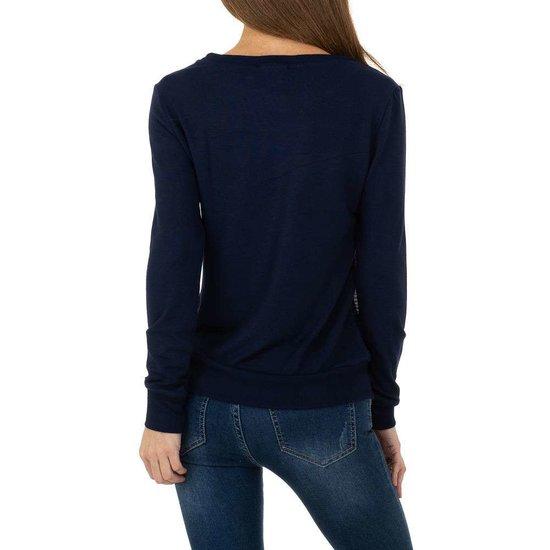Trendy zwarte sweatshirt met luipaardhoofd