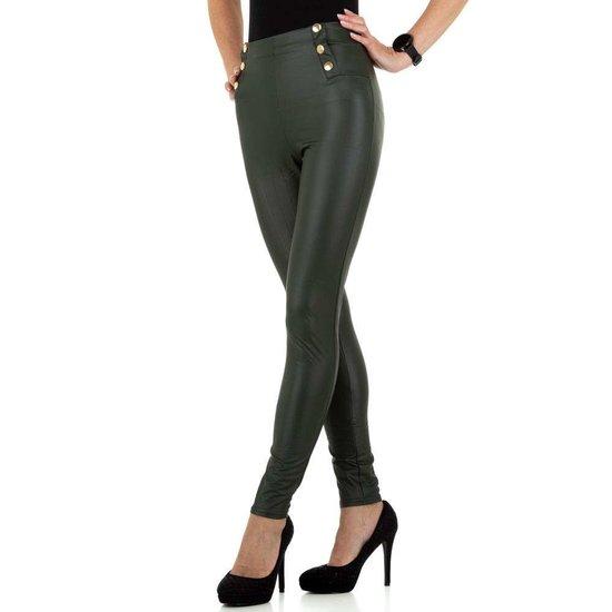 Fashion groene legging.