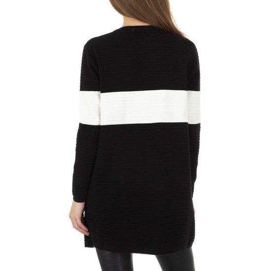Trendy zwart-witte cardigan.SOLD OUT