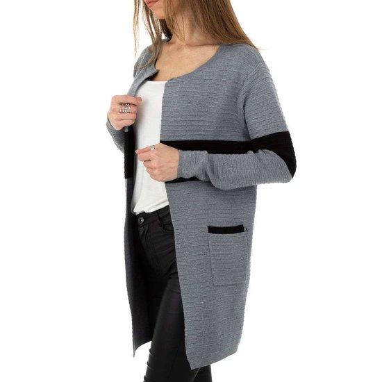 Trendy grijs-zwarte cardigan.SOLD OUT