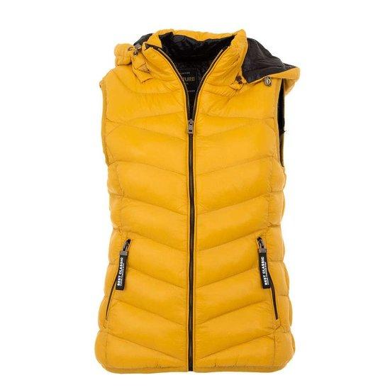 Korte gewatteerde gele bodywarmer.SOLD OUT