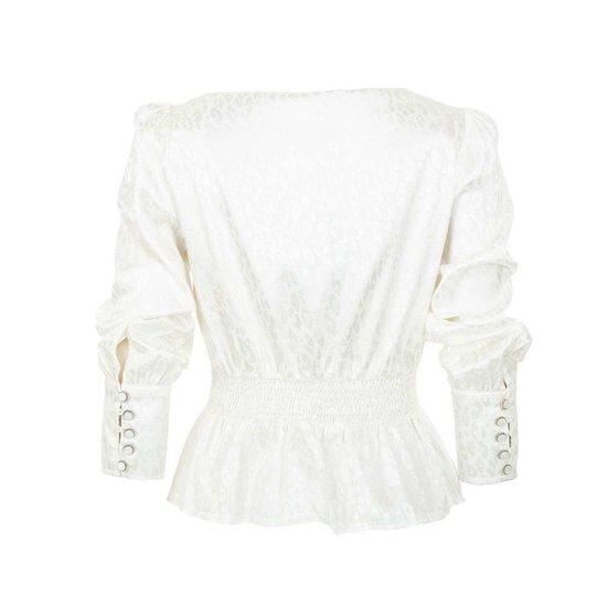Classy witte blouse met motief.