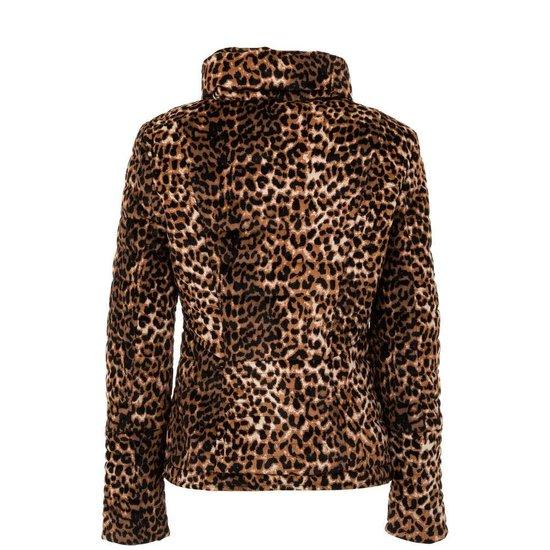 Fashion jas in leopard look.