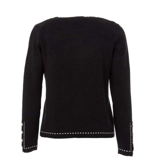 Stylische zwarte korte cardigan.