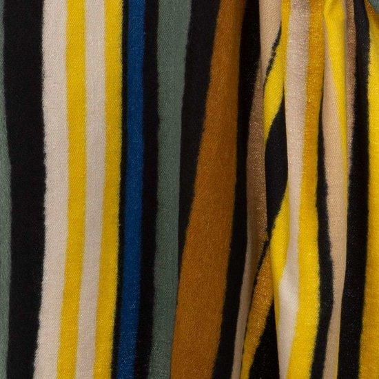 Mixed gele xxl sjaal met vertikale lijnen.