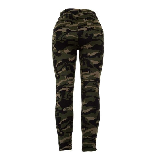 Trendy armygreen camouflage hoge taille  legging.