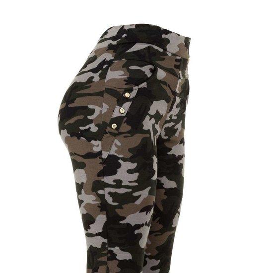Hippe armygrey camouflage hoge taille  legging.