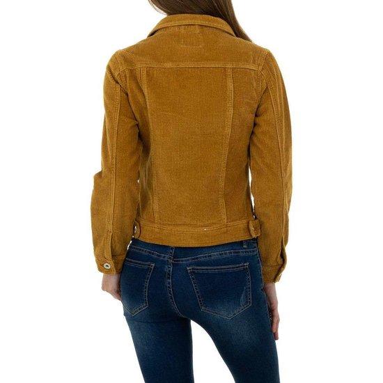 Korte camel jacket in wolcord.