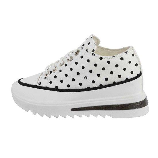 Trendy hoge witte sneaker Xandra.