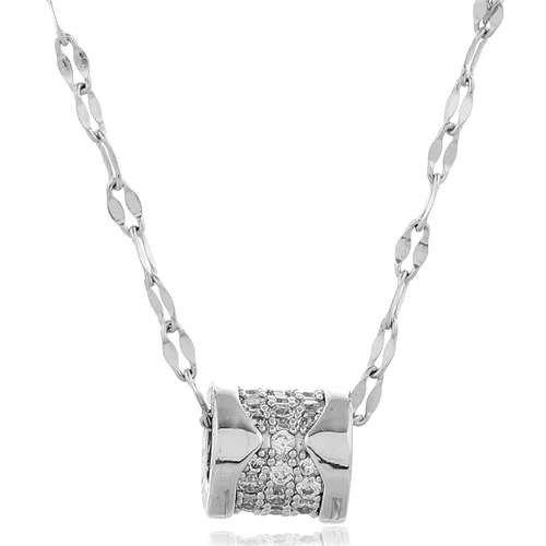 Fijne zilveren pendant ketting.
