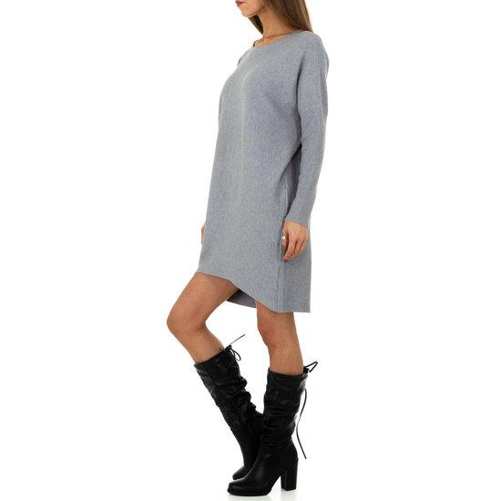 Trendy grijze oversized truijurk.