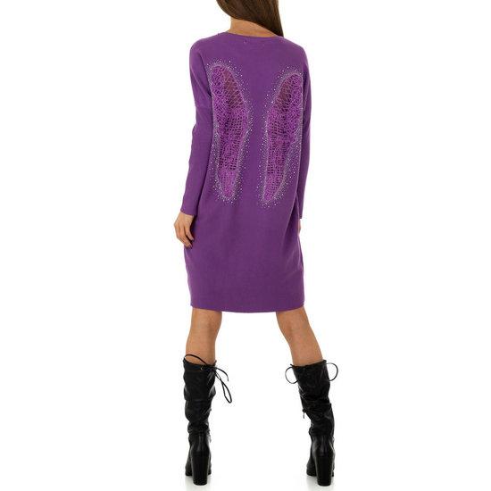 Trendy lila oversized truijurk.