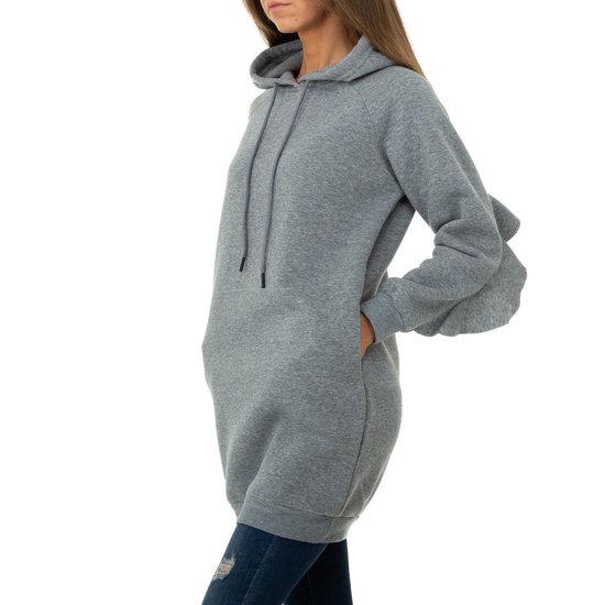 Hippe grijze sweater- long pullover.