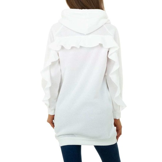 Hippe witte sweater- long pullover.