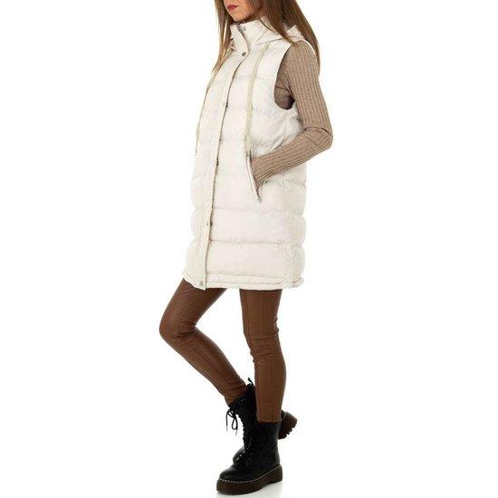 Trendy off white oversized gewatteerde bodywarmer.SOLD OUT