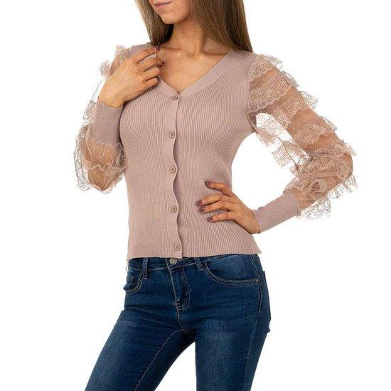 Fashion rose gilet.