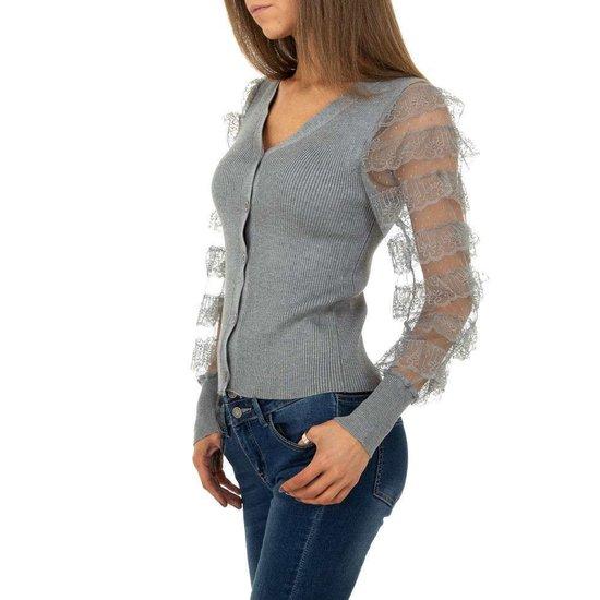 Fashion grijze gilet.