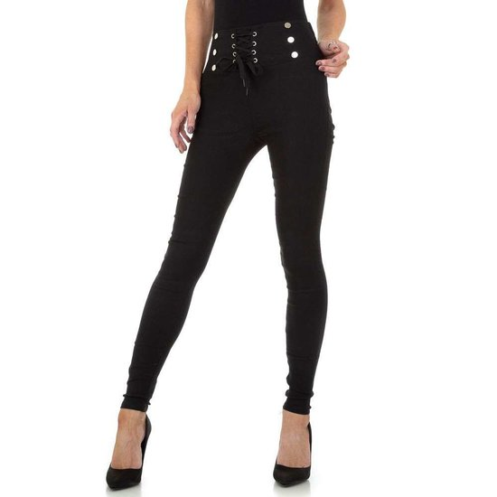 Skinny zwarte aanpassende broek.