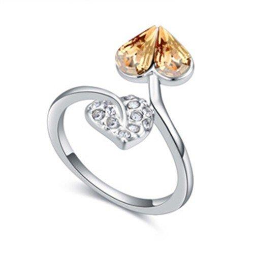 Ring met gouden hart.