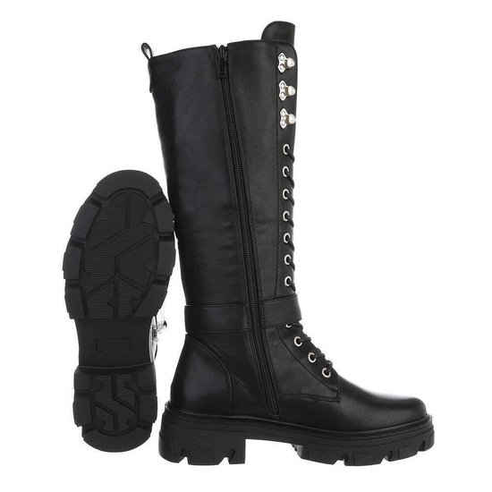 Fashion hoge zwarte boot Kiona.