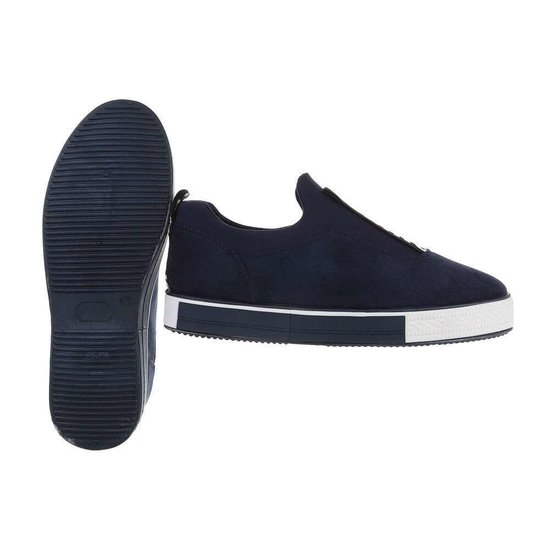 Blauwe daimen lage sneaker Mollie.