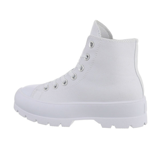 Hoge witte sneaker Marie.SOLD OUT