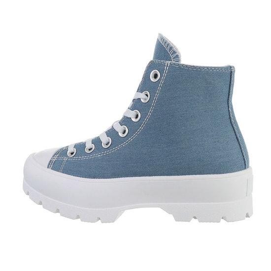 Hoge blauwe sneaker Marie.