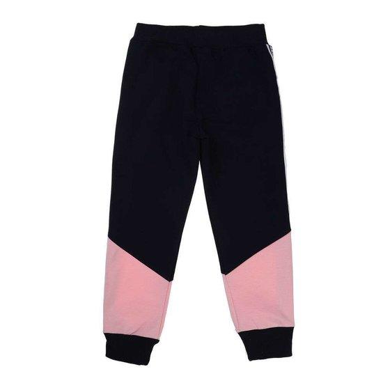 Donkerblauwe-roze meisjes jogging.