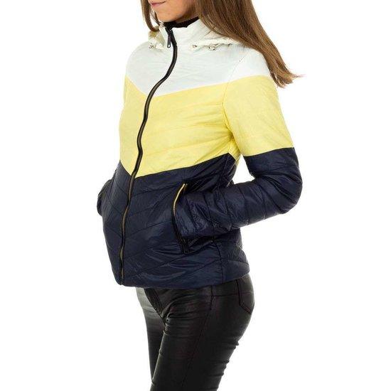 Blauw-gele midseason jacket.