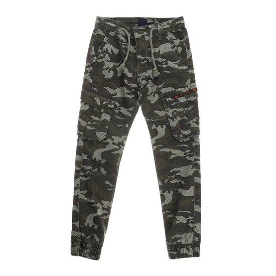 Camouflage jongens jeans armygreen.