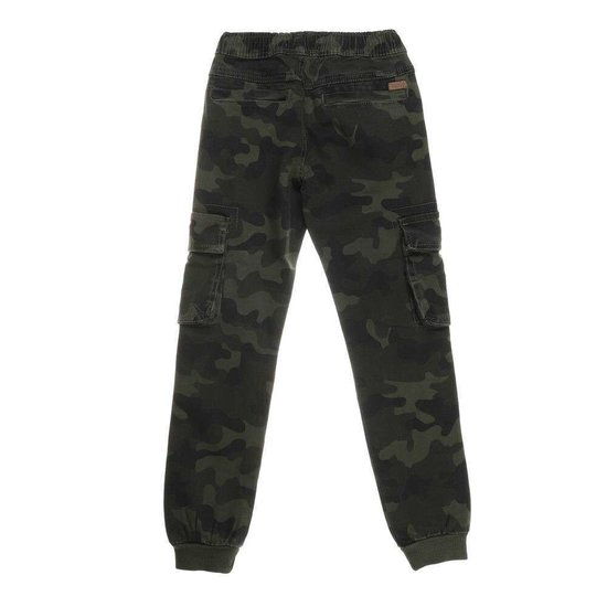 Camouflage jongens jeans dark armygreen.