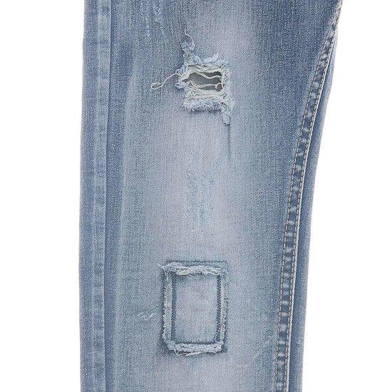 Jongens blue jeans destroyed.