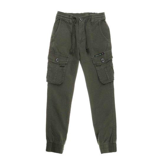 Jongens kaki jeans .