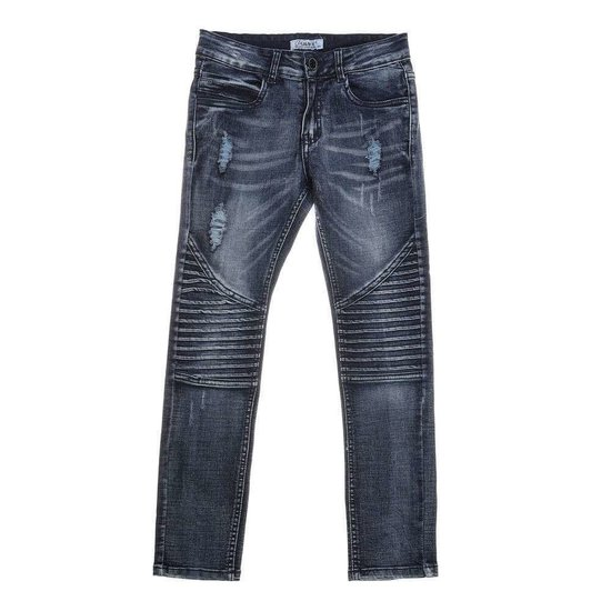 Jongens geribte blue jeans .