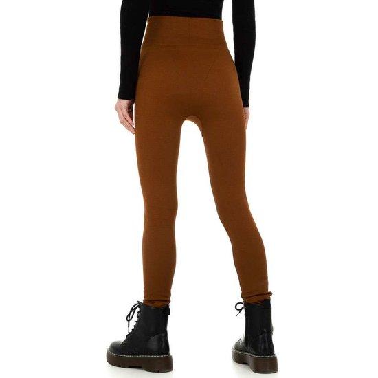 Trendy bruine gevoerde thermo legging.