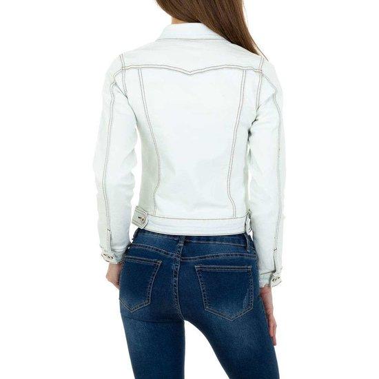Off white korte jeans jacket.