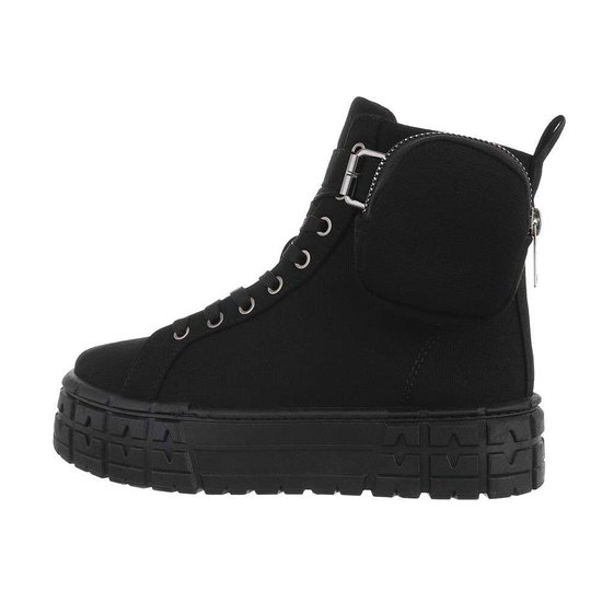 Trendy zwarte hoge sneaker Anita