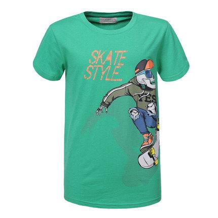 Groene jongens T-shirt. SKATE STYLE