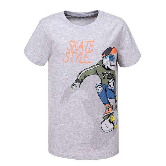 Grijze jongens T-shirt. SKATE STYLE