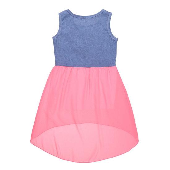 Rose-blauwe meisjes jurk.