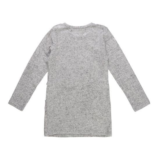 Lichte grijze meisjes jurk met deco.