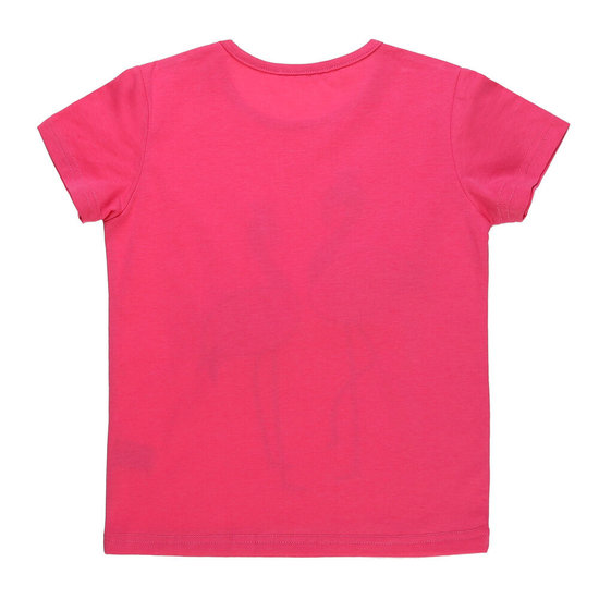Rose meisjes T-shirt met flamingo.