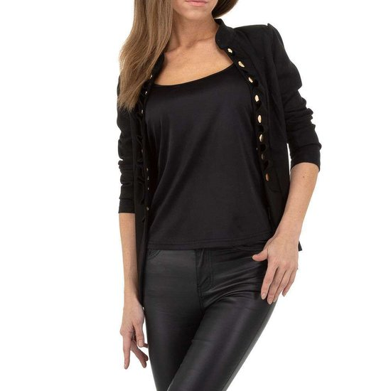 Classy korte zwarte uniform blazer.