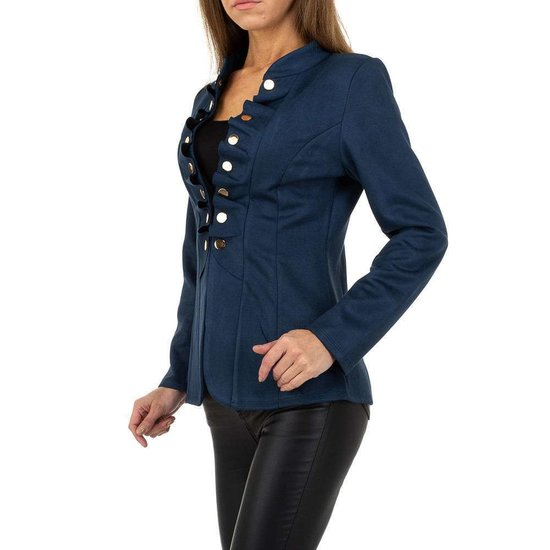 Classy korte blauwe uniform blazer.