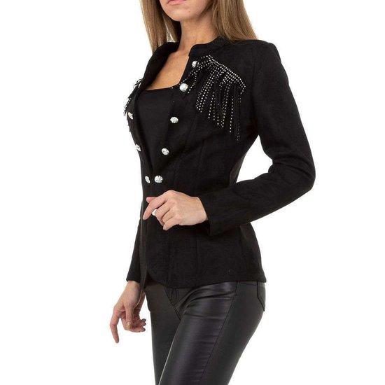 Stylish korte zwarte uniform blazer.