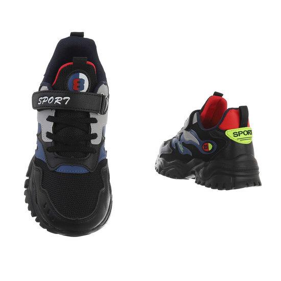 Coole jongens zwarte sneaker Seppe.