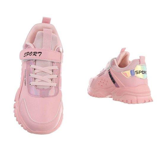 Trendy rose meisjes sneaker Suus.
