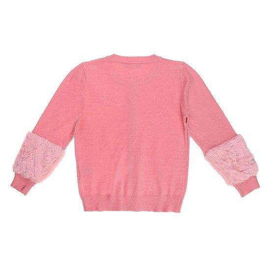 Trendy rose meisjes pullover.