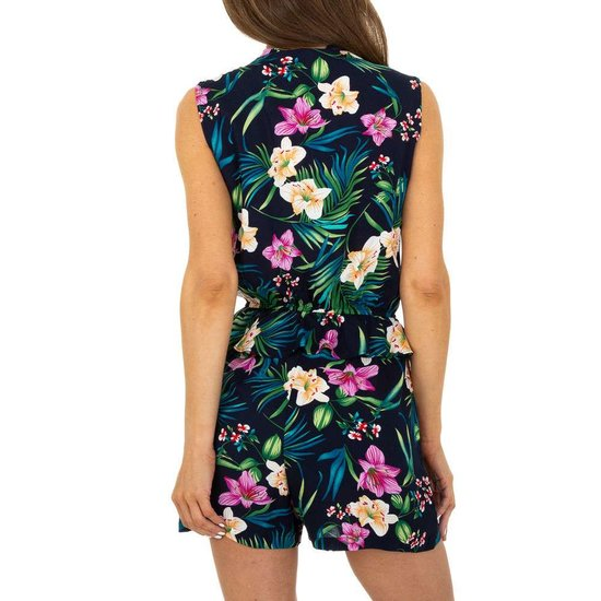 Trendy blauwe floral romper.SOLD OUT