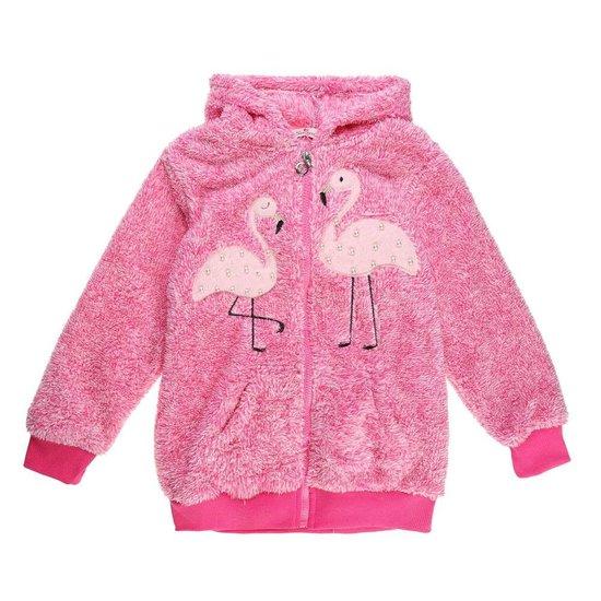 Rose gemoltoneerde meisjes sweater met deco.